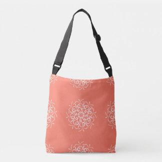Papaya Mandala Crossbody Bag