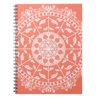 Papaya Mandala Notebook