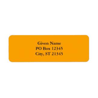 Papaya Return Address Label