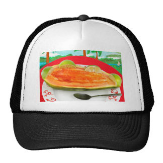 Papaya with Lime with Tropical View Painting Hat