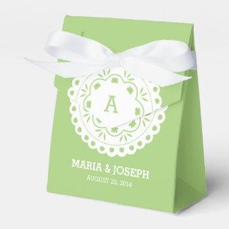 Papel Picado Favor Box - Green