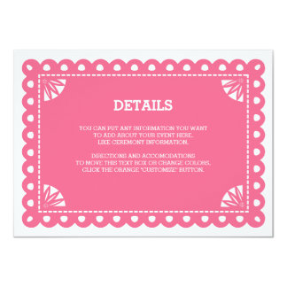 Papel Picado Insert Card - Pink