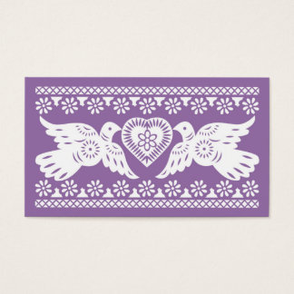 Papel Picado Lovebirds Place card