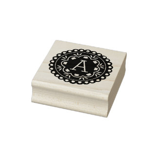 Papel Picado Monogram Rubber Stamp