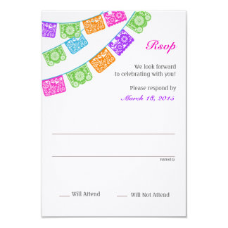 Papel Picado Rsvp Multicolor Card
