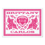 Papel Picado Style Love Birds 13 Cm X 18 Cm Invitation Card