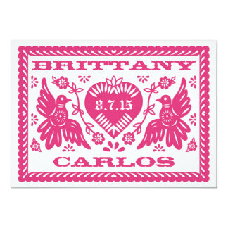 Papel Picado Style Love Birds Card