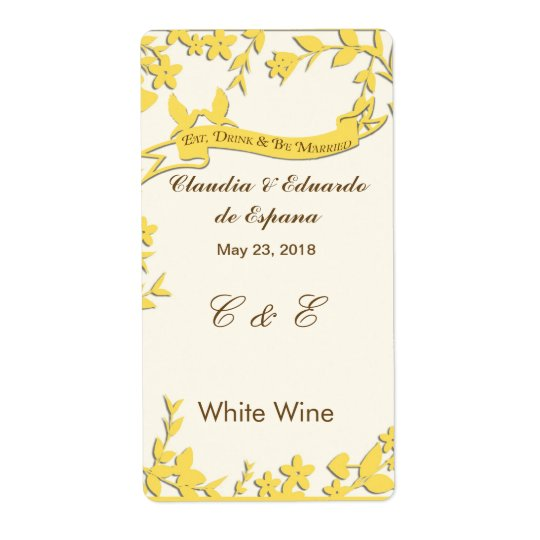 Papel Picado Wedding Invitation - Lovely Doves Shipping Label