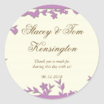 Papel Picado Wedding Invitation - Lovely Doves Round Stickers