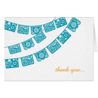 Papel Picado Wedding Thank You Card
