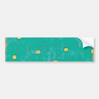 paper016 LIGHT GREEN TURQUOISE BLUE GRUNGE  RANDOM Bumper Stickers
