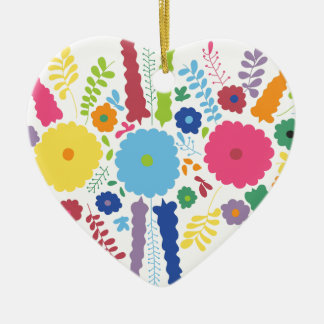 PAPER558 BRIGHT COLORFUL HAPPY FLOWERS CARTOON MEX CHRISTMAS TREE ORNAMENT