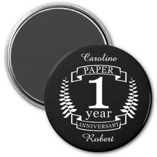 Paper 1st wedding anniversary 1 year magnet