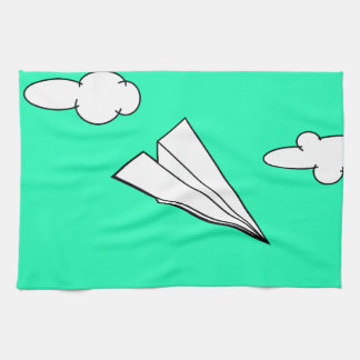 Paper Airplane in the Sky Hand Towels