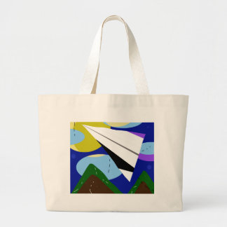 Paper airplane large tote bag