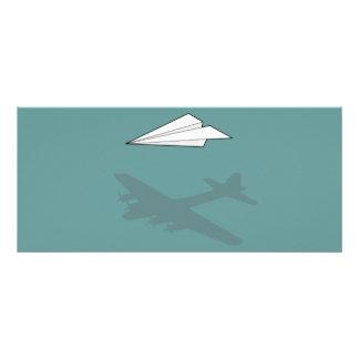 Paper Airplane Overactive Imagination Custom Rack Card