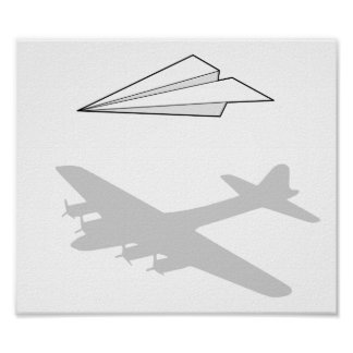 Paper Airplane Overactive Imagination Poster