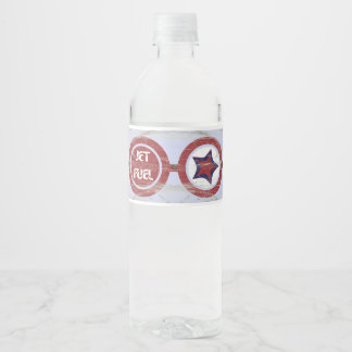 Paper Airplane Party Water Bottle Label