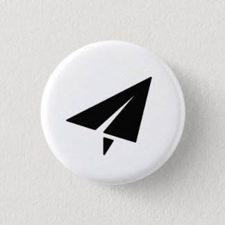 Paper Airplane Pictogram Button