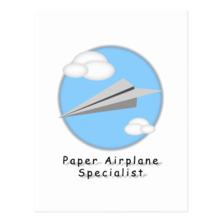 Paper Airplane - Postcard