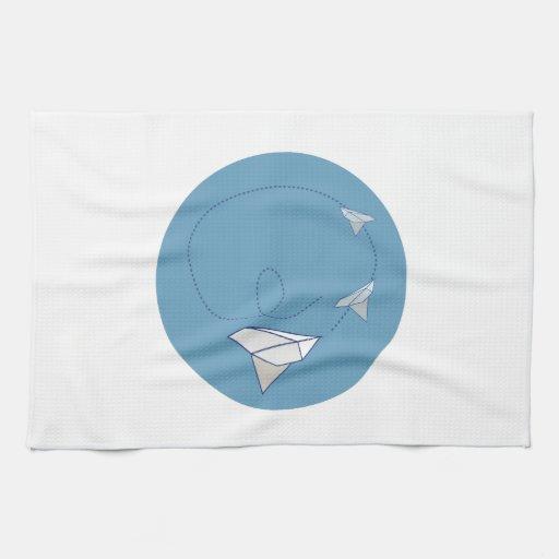 Paper Airplane Kitchen Towel