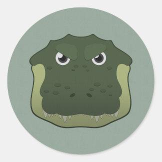 Paper Alligator Round Sticker