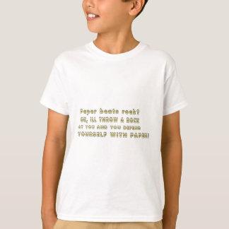 Paper beats rock? T-Shirt