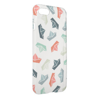 Paper Boat Pattern iPhone 7 Deflector Case