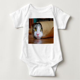 Paper cat - funny cats - cat meme - crazy cat baby bodysuit