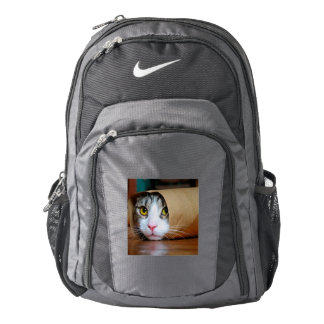 Paper cat - funny cats - cat meme - crazy cat backpack