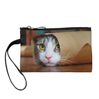 Paper cat - funny cats - cat meme - crazy cat coin purse