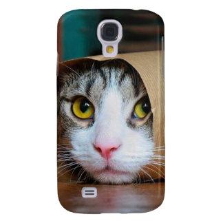 Paper cat - funny cats - cat meme - crazy cat galaxy s4 case