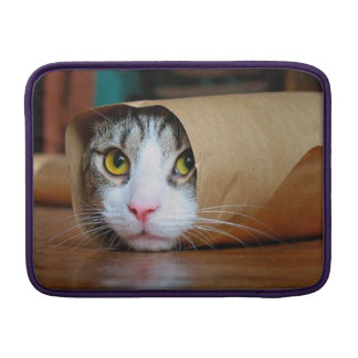 Paper cat - funny cats - cat meme - crazy cat sleeve for MacBook air