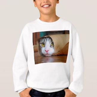 Paper cat - funny cats - cat meme - crazy cat sweatshirt