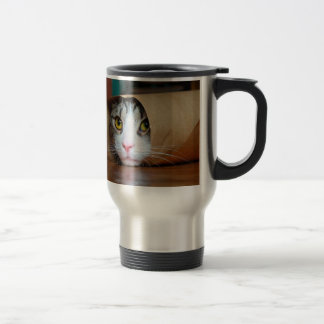 Paper cat - funny cats - cat meme - crazy cat travel mug