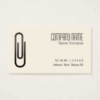paper clip business card