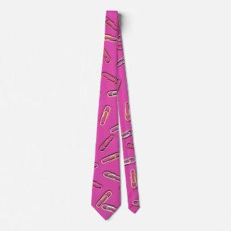 Paper Clip Pattern - Cool Fun Unique! Tie