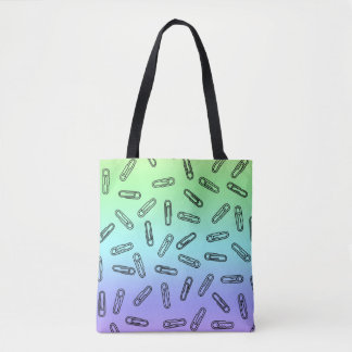 Paper Clips Over Rainbow Tote Bag