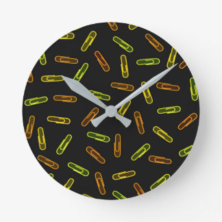 Paper Clips Round Clock