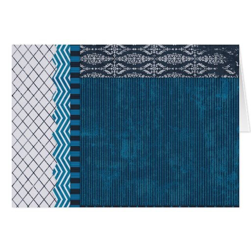 PAPER CLUSTER SCRAP-BOOKING STRIPES SOLIDS TEAL WH CARDS