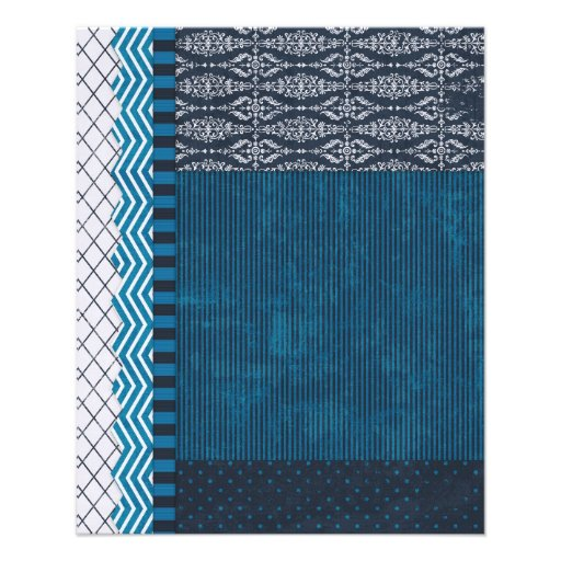 PAPER CLUSTER SCRAP-BOOKING STRIPES SOLIDS TEAL WH FLYERS