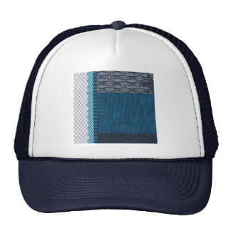 PAPER CLUSTER SCRAP-BOOKING STRIPES SOLIDS TEAL WH TRUCKER HAT