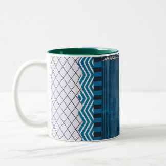PAPER CLUSTER SCRAP-BOOKING STRIPES SOLIDS TEAL WH MUGS