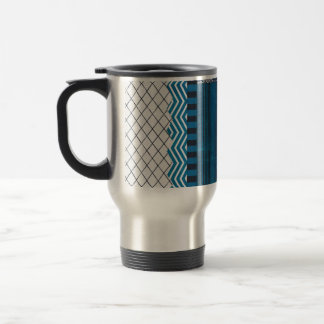 PAPER CLUSTER SCRAP-BOOKING STRIPES SOLIDS TEAL WH COFFEE MUG