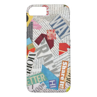 paper collage iPhone 7 case