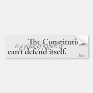 Paper Constitution Bumper Sticker