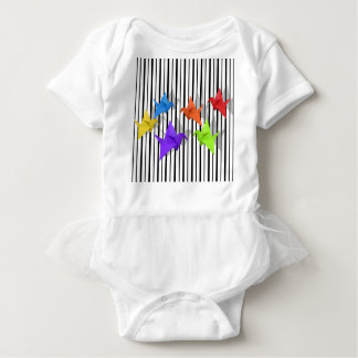 Paper cranes baby bodysuit