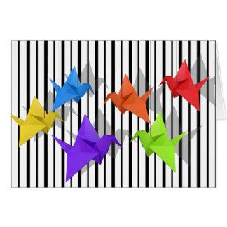 Paper cranes card