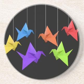 Paper cranes drink coaster