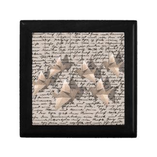 Paper cranes gift box
